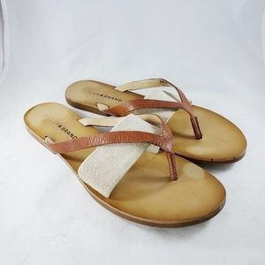 Lucky Brand Brown Leather Baxx Sandal